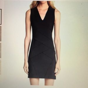 Theory black Dillas body contact dress